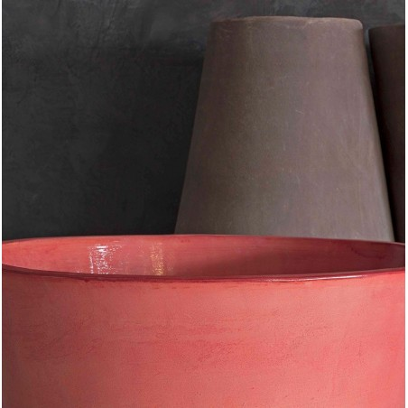 Classic and Design handmade terracotta vases, model Castor | Laboratorio San Rocco