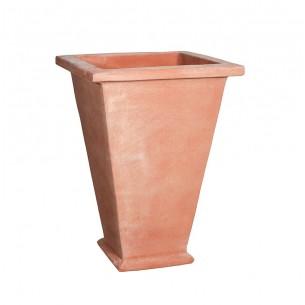 Vasi in terracotta artigianali classici e  di design modello Cesta Alta Liscia  | Laboratorio San Rocco