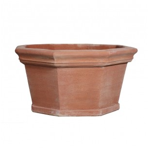 Classic and Design handmade terracotta vases, model Ciotola Ottagonale | Laboratorio San Rocco