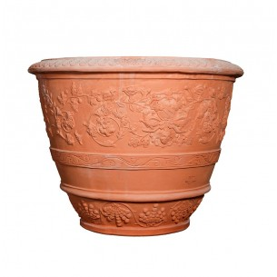 Classic and Design handmade terracotta vases, model Conca Capolavoro | Laboratorio San Rocco