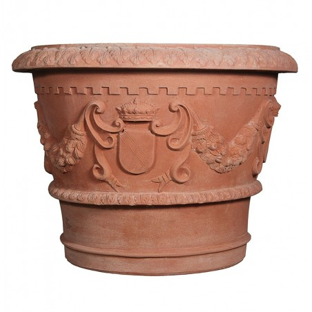 Classic and Design handmade terracotta vases, model Conca Granduca | Laboratorio San Rocco