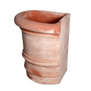 Vasi in terracotta artigianali classici e  di design modello Florence Liscio 1/4  | Laboratorio San Rocco