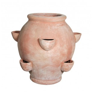 Classic and Design handmade terracotta vases, model Fragoliera | Laboratorio San Rocco