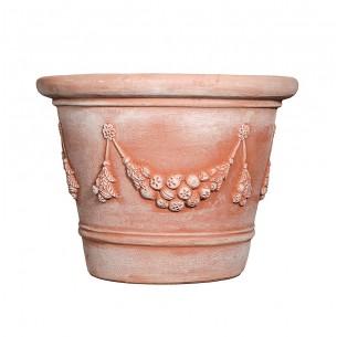 Vasi in terracotta artigianali classici e  di design modello Vaso Festonato  | Laboratorio San Rocco