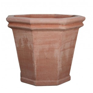 Classic and Design handmade terracotta vases, model Vaso Ottagonale | Laboratorio San Rocco