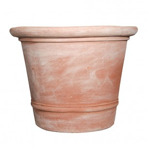 Classic and Design handmade terracotta vases, model Vaso Toscano Liscio | Laboratorio San Rocco