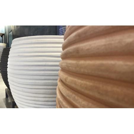 Vaso in terracotta  Faxi Solcato - Laboratorio San Rocco