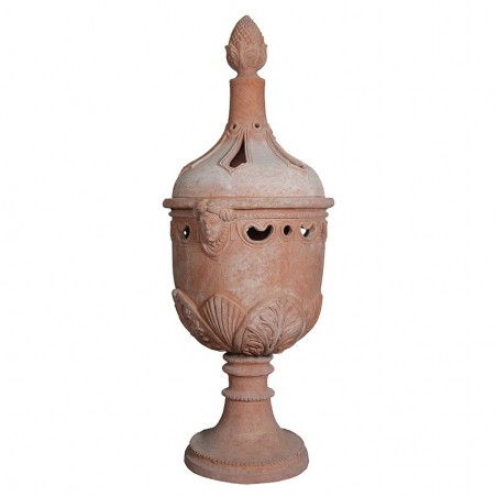 Complementi di arredo per giardino in terracotta artigianale classici e di design modello Focus  | Laboratorio San Rocco